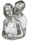 Dekoobjekt verliebtes Paar aus Kunststein 20x28 cm