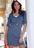 2-in-1-Look-Kleid blau