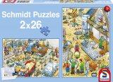 Puzzles Baggern & Bauen 2x26 Teile, 1St.
