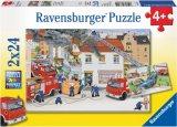 Puzzle Bei der Feuerwehr 2x24 tlg., 1 Set