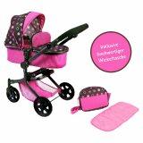 Puppen-Kombiwagen Mika mit Wickeltasche Pinky Balls