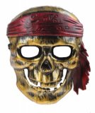 LG-Imports face mask Pirate skull junior gold